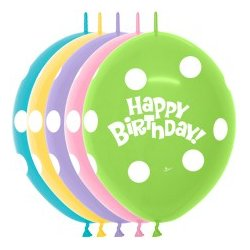 25 stuks LOL Happy Birthday Polkadot Print
