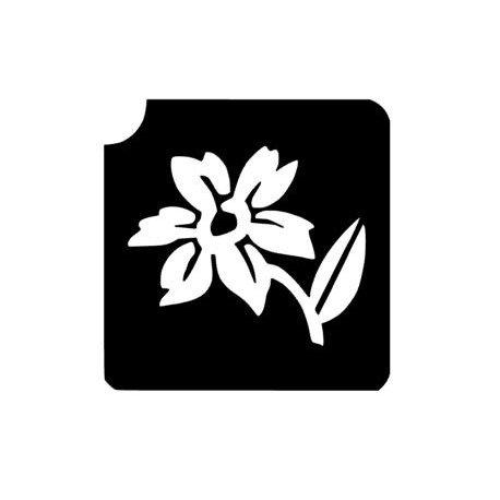 Glitter Tattoo Sjabloon Flower 321F