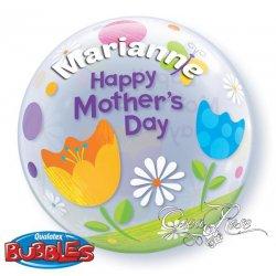 Bubble Happy Mother's day met Tekst
