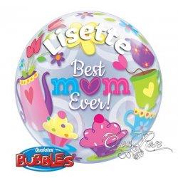 Bubble Helium Best Mom Ever met Tekst