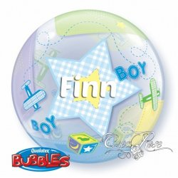 Bubble Helium Ballon Baby Boy met Tekst