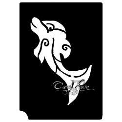 Glitter Tattoo Sjabloon Dolfijn Crea0001