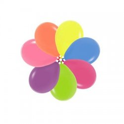 Latex Ballon Neon Assorted Colors 200 5 inch