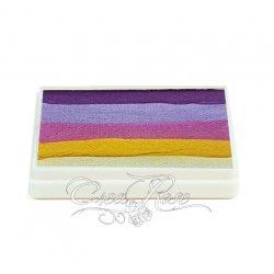 Splitcake paars, lila, roze, geel, wit