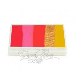 Splitcake Red, Pink, Orange, Gold, Yellow