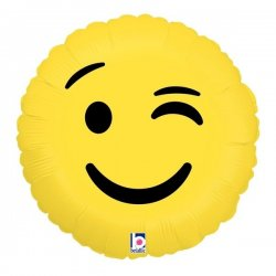 Folie Ballon Smiley Knipoog