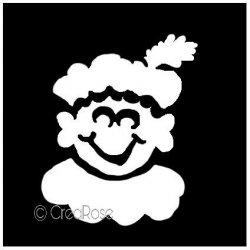 Glittertattoo Sjabloon Zwarte Piet
