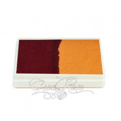 Splitcake Ruby Red, Golden Yellow schmink voor one stroke