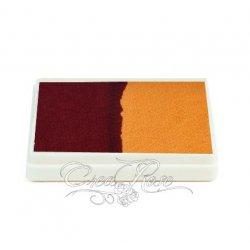 Splitcake Ruby Red, Golden Yellow schmink voor one stroke