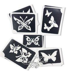Glitter tattoo 10 Vlinder Sjablonen