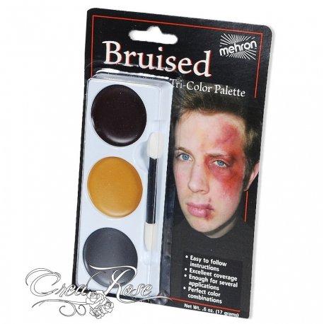 Mehron tri-color cream palette bruised