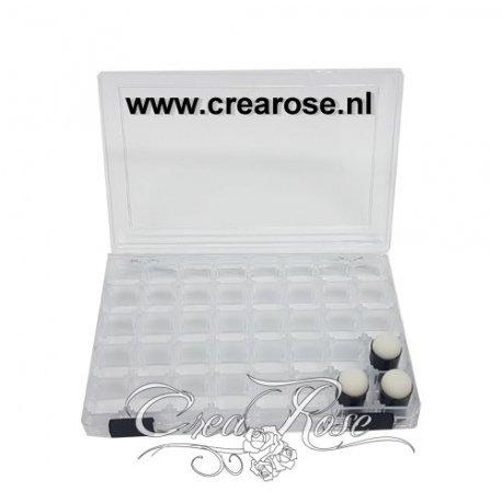 Vingersponsjes Opbergdoos, met jouw website