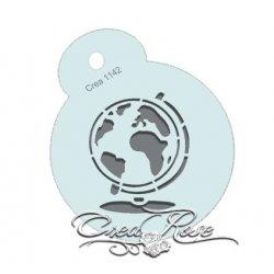 Schmink Sjabloon M Wereldbol, Globe CREA1142