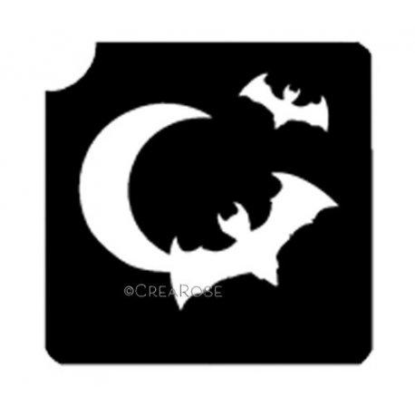 Vleermuizen met maan
