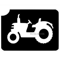 Glitter Tattoo Sjabloon Tractor, Trekker