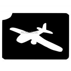 Glitter Tattoo Sjabloon Vliegtuig