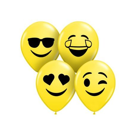 Qualatex Ballon 5 inch Smiley Faces Assortie