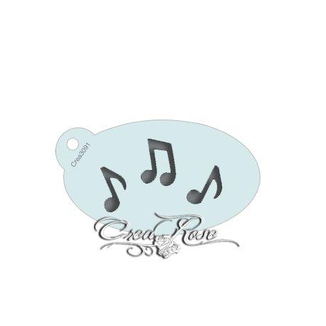 Schmink Sjabloon S Muzieknootjes CREA3091