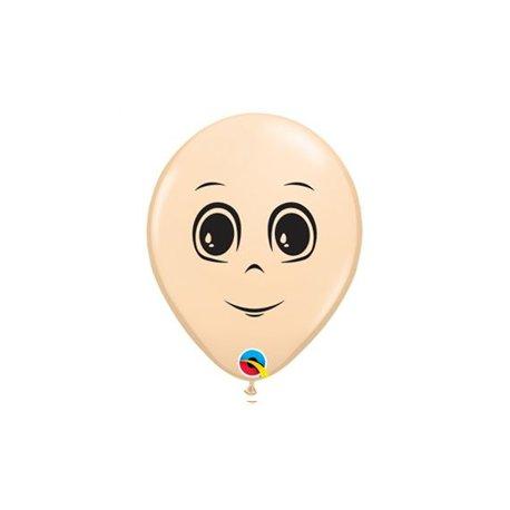 Qualatex Ballon 5 inch Mannelijk Gezicht Blush