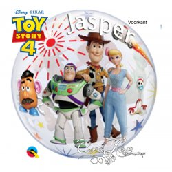 Bubble Helium Ballon Toy Story 4 met Tekst