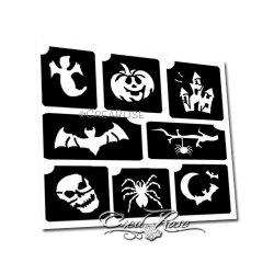 Glitter Tattoo Sjablonen 4K Halloween