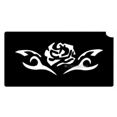 Rose trible Glittertattoo Sjabloon