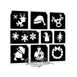 Glitter Tattoo Sjablonen 4K Kerstmis