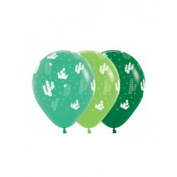 Sempertex Ballon All over Cactus 12 Inch