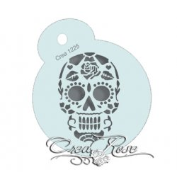 Schmink Sjabloon M Sugar Skull Rose CREA1225