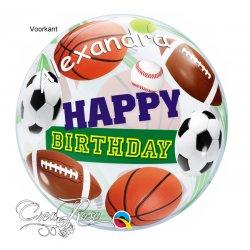 Bubble Ballon Happy Birthday Sport