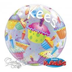 Bubble Ballon Cupcakes met Naam
