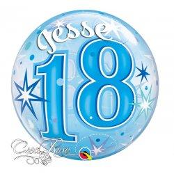 Bubble Helium Ballon 18 Jaar Starburst met Naam