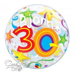 Bubble Helium Ballon 30 Brilliant Stars met Naam