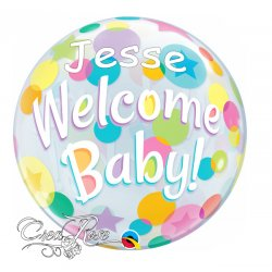 Bubble Helium Ballon Welcome Baby met Naam