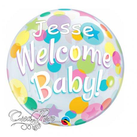 Bubble Helium Ballon Welcome Baby met Naam