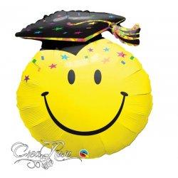 Folie Helium Ballon XL Smiley Geslaagd met Cap