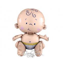 Zittende Folieballon Baby (zelf vullen)
