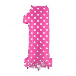Folie Ballon 102 cm Polkadot Pink 1