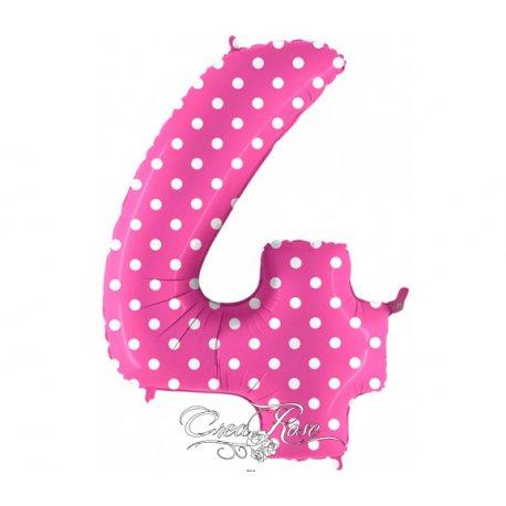 Folie Ballon 102 cm Polkadot Pink 4