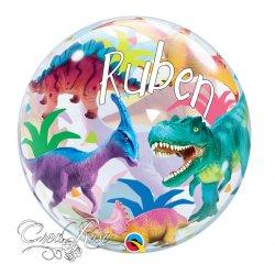 Bubble Helium Ballon Dinosaurus met Naam