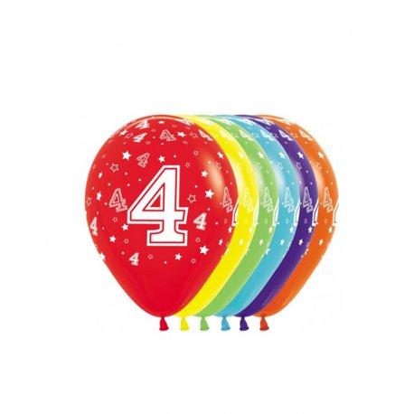 Latex Ballon met Cijfer 4