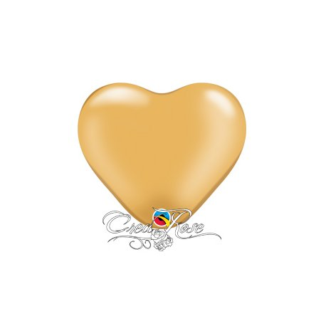 Qualatex Ballon Heart Gold 15 cm
