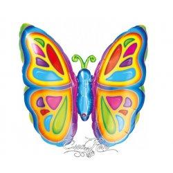 Folie Ballon Kleurrijke Vlinder