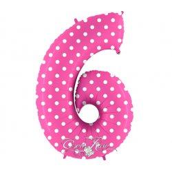 Folie Ballon 102 cm Polkadot Pink 6