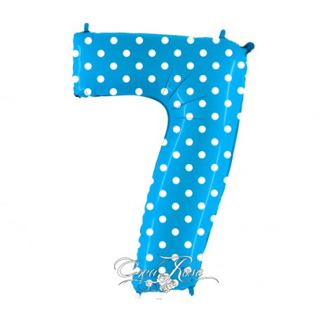 Folie Ballon 102 cm Polkadot Blue 7