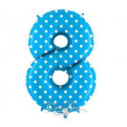 Folie Ballon 102 cm Polkadot Blue 8