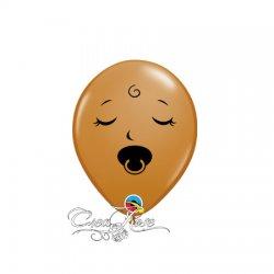 Qualatex Ballon Baby Face 5 inch Mocha