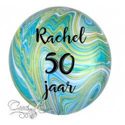 Orbz Helium Ballon Marblez Green met Eigen Tekst