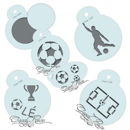 Schmink Sjabloon Set Voetbal